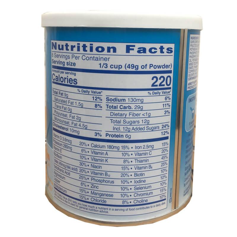 Thành phần dinh dưỡng sữa pediasure grow and gain