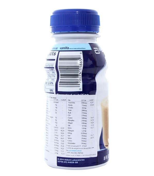 Thành phần dinh dưỡng sữa ensure nước